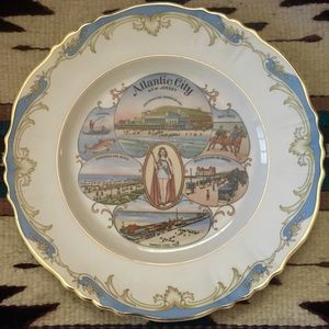 ATLANTIC CITY • Collector Plate • 1918 ATLAS CHINA